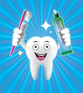 dentifricio per pulizia dei denti
